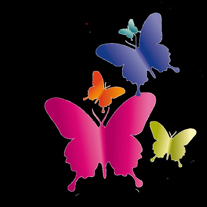 Row background butterflies